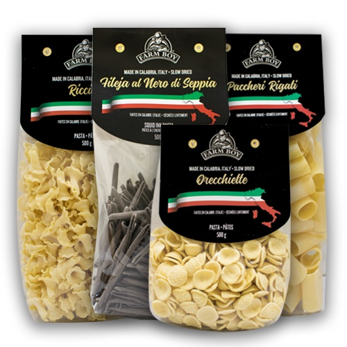 Four packages of farm boy pasta