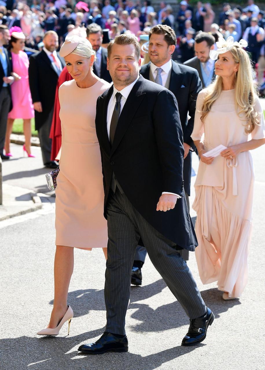Julia Carey and James Cordon at the royal wedding of Meghan Markle and Prince Harry