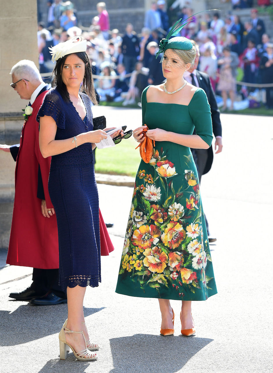 Kitty Spencer in a green dress at Meghan Markle and Prince Harry's wedding