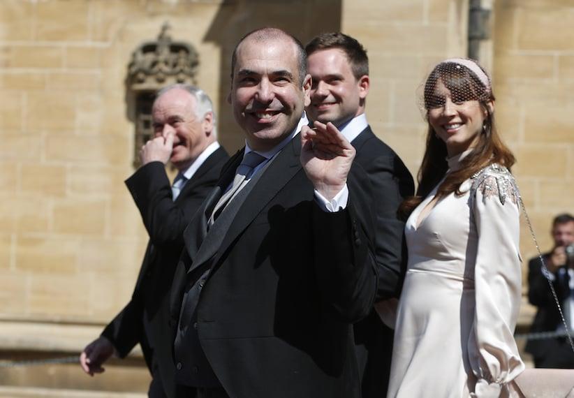 Suits cast mates Rick Hoffman and Patrick Adams at the royal wedding