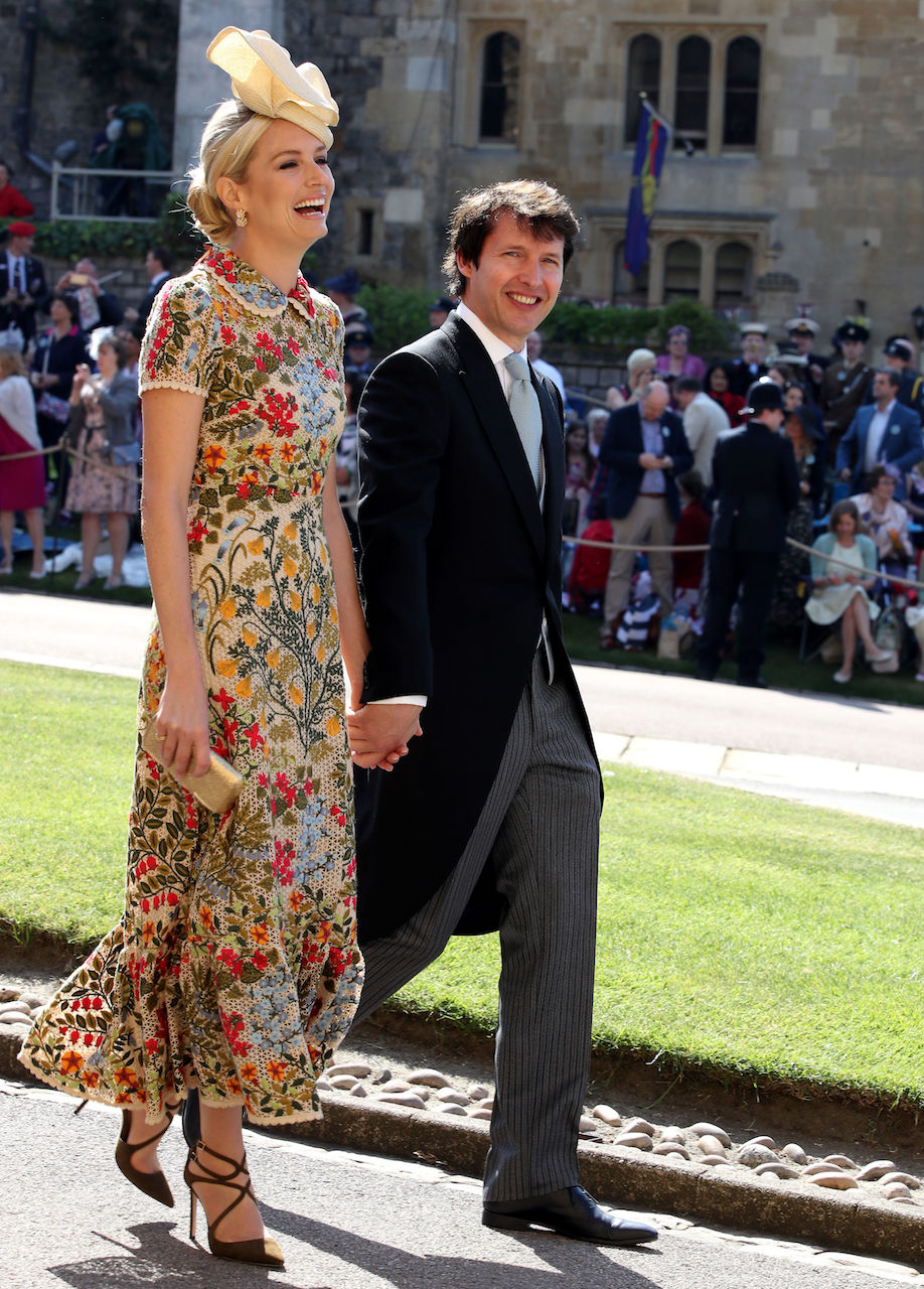 Sofia Wellesley and James Blunt at royal wedding