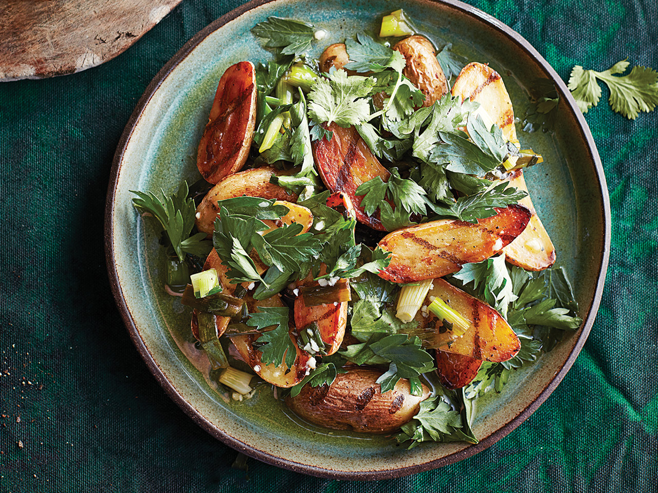 Chimichurri grilled potato salad