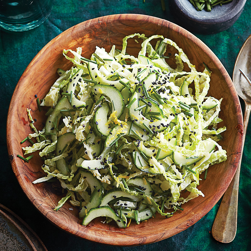 Chive and napa cabbage salad