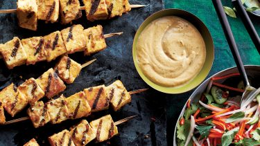 Easy tofu recipes - Tofu skewers with dip