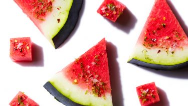 Watermelon recipes: Watermelon topped with lime-chili and salt