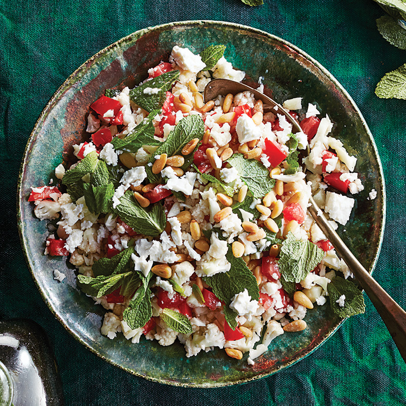 Mint cauliflower tabbouleh