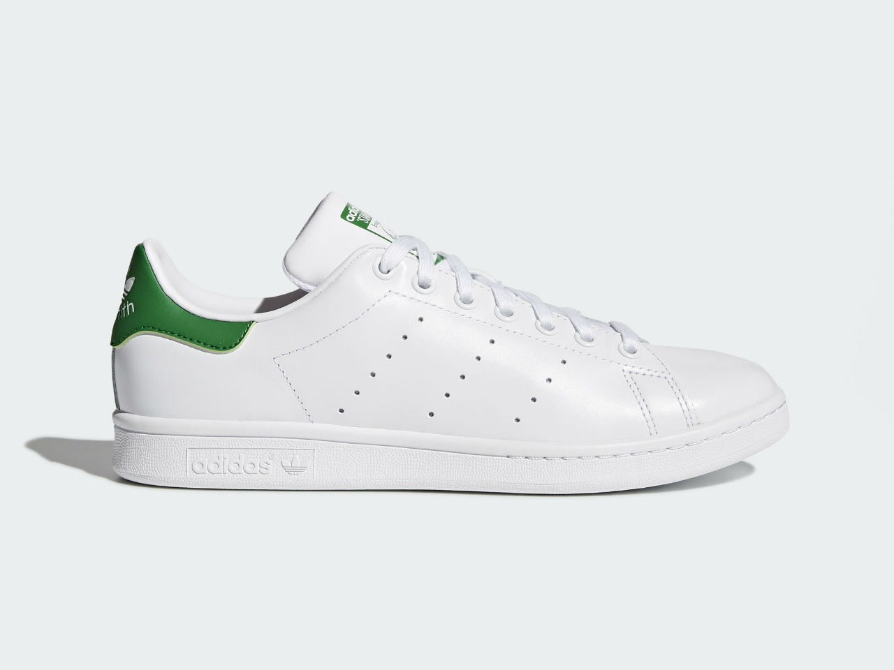 03e48f161a32 An Adidas Stan Smith sneaker  We show you tried and tested ways to clean  white Stan Smith shoe.