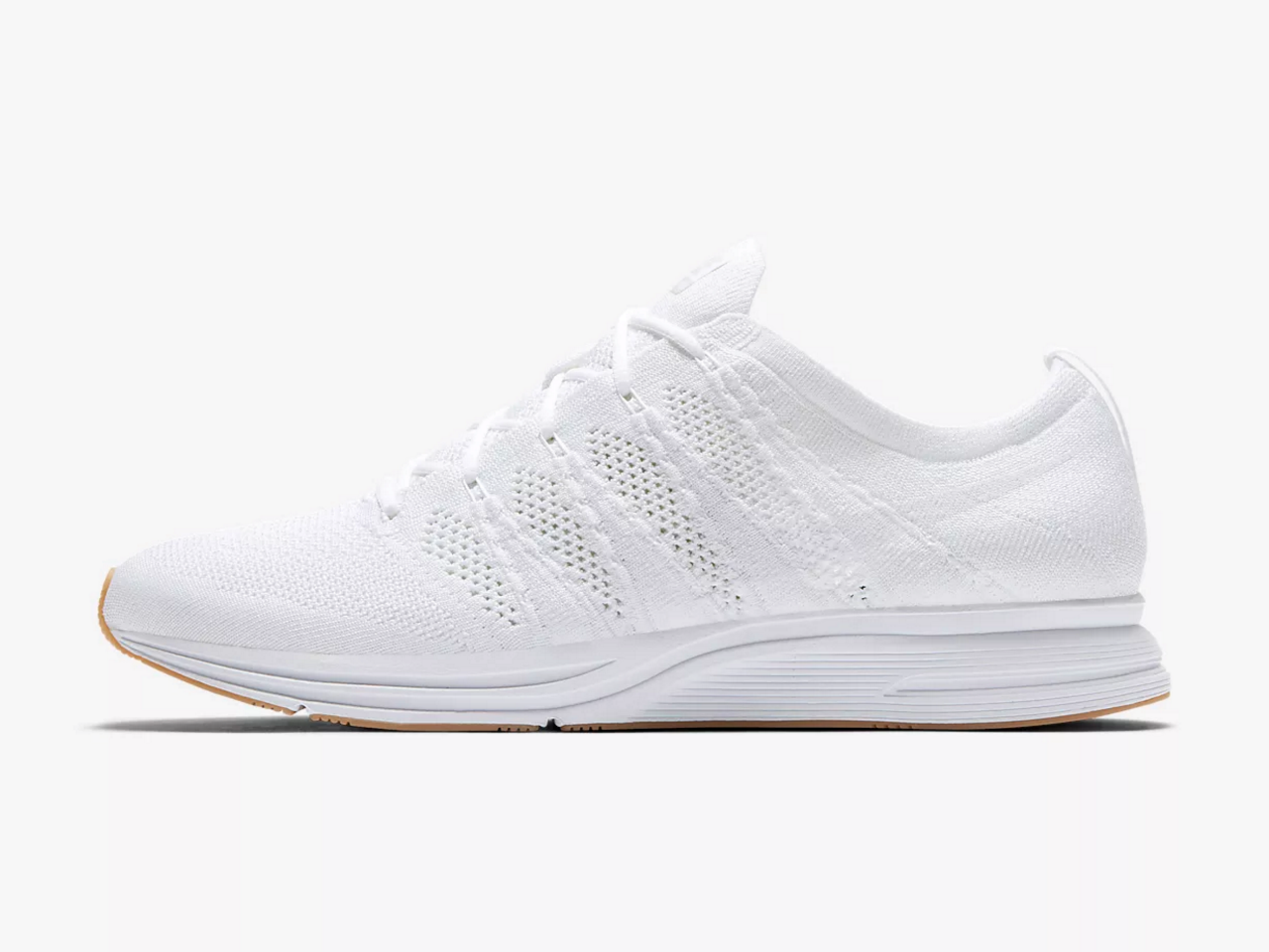 A Nike flyknit trainer: We show you tried and tested ways to clean white shoes and sneakers