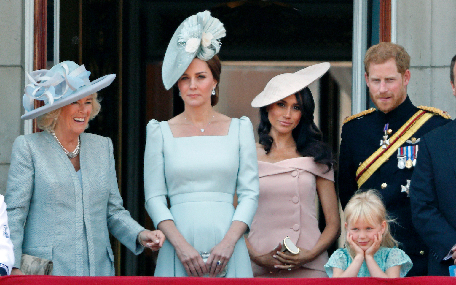 Meghan Markle and kate Middleton at the Trooping the Colour