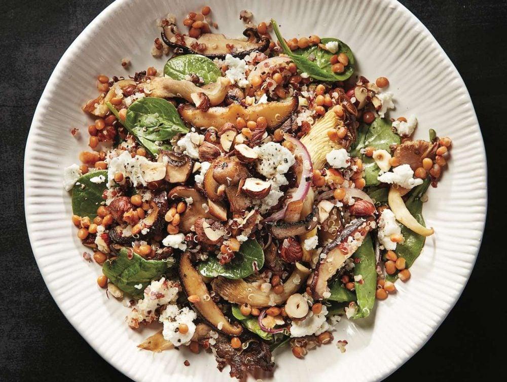 Monday: Mushroom grain bowl
