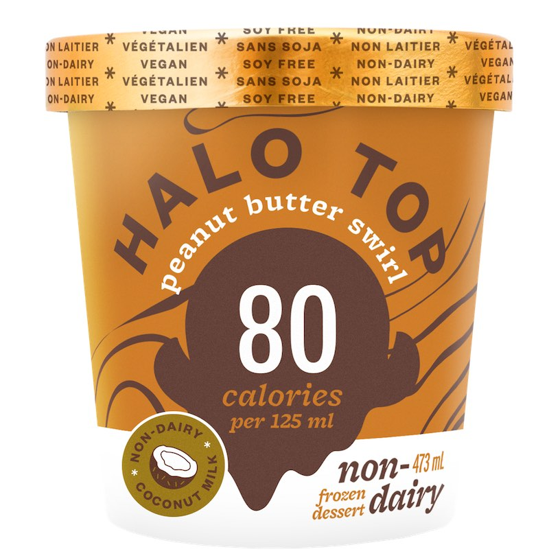 Vegan Halo Top ice cream peanut butter swirl flavour