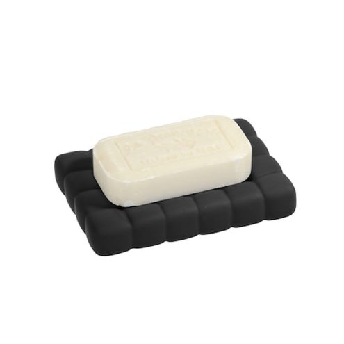 Black cube bath soap dish from Linen chest