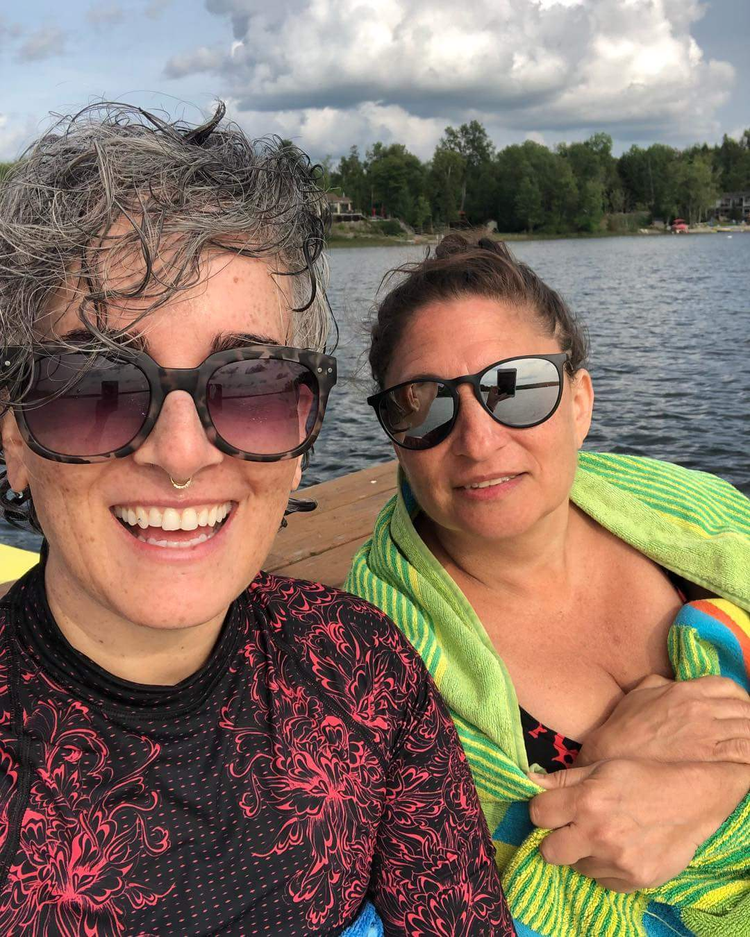 Importance of Friendship-the author with her friend Sarah at a lake
