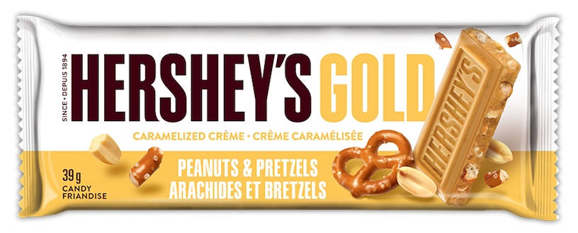 New chocolate Canada: Hershey's gold bar