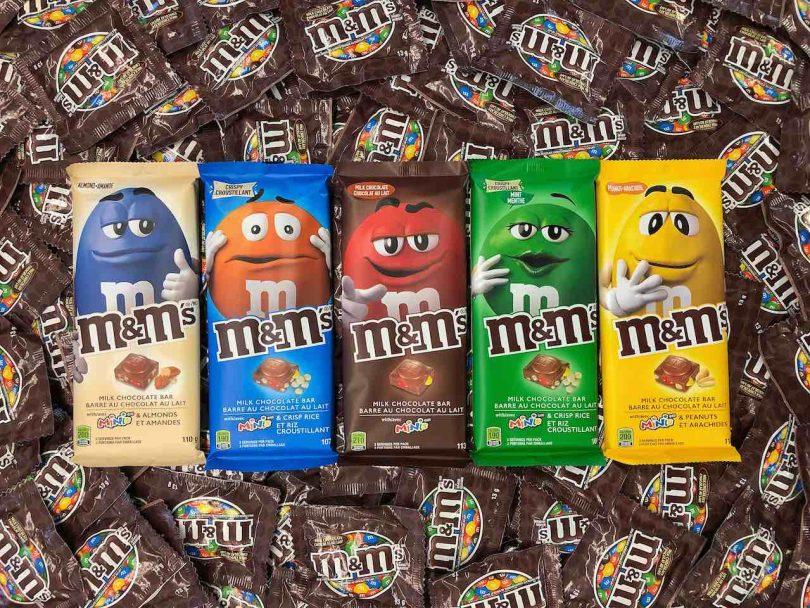 New chocolate Canada: M&M's chocolate bar