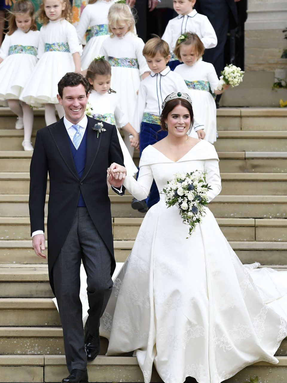 Princess Eugenie and Jack Brooksbank leave the royal wedding