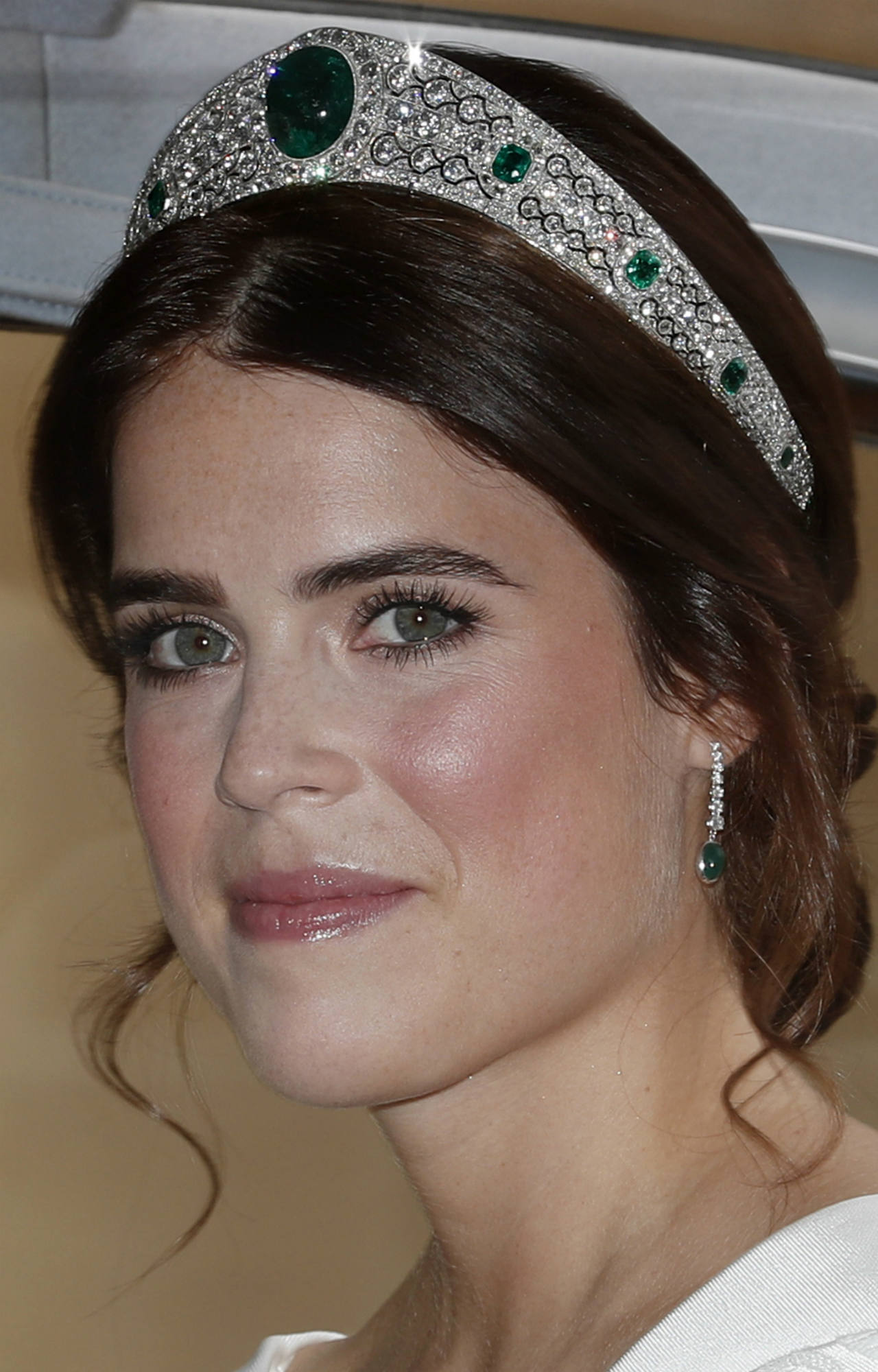 Princess Eugenie in her wedding tiara