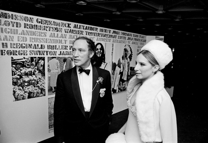 Pierre Trudeau and Barbra Streisand in Ottawa January 28, 1970