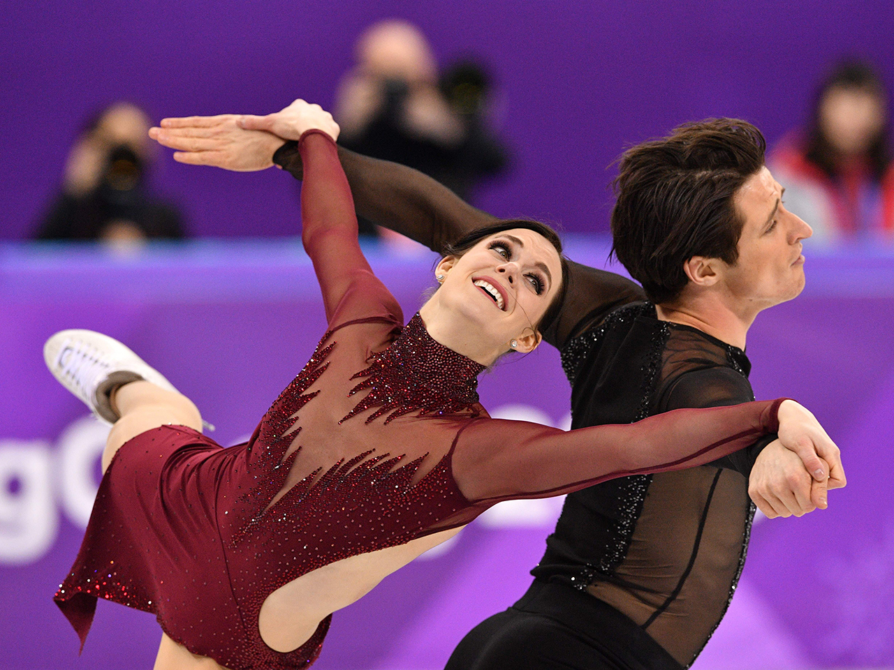 women of the year 2018: Tessa Virtue and Scott Moir compete in the ice dance free dance of the figure skating event during the Pyeongchang 2018 Winter Olympic Games