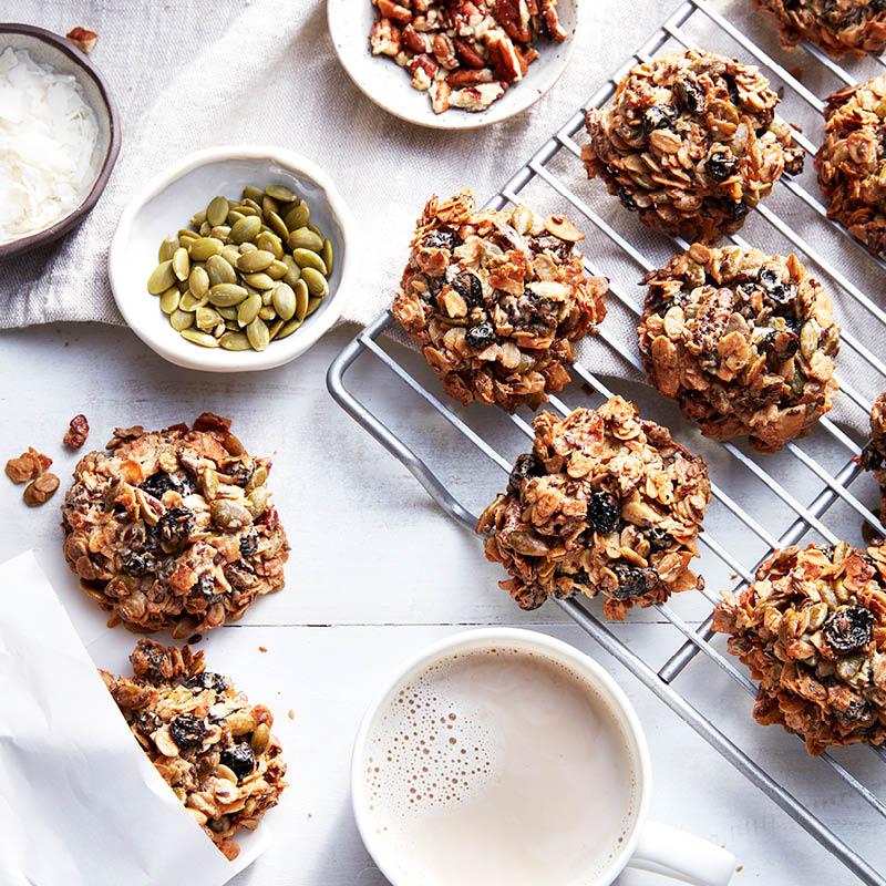 Blueberry granola breakfast cookies