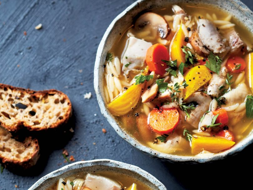 Chicken and orzo soup recipe