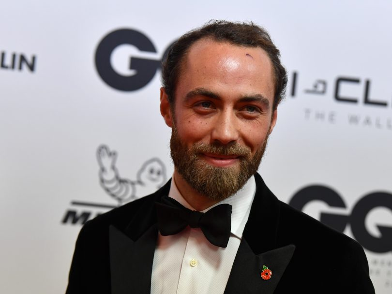 James Middleton poses in a tux at the GQ Men of the Year 2018 Gala