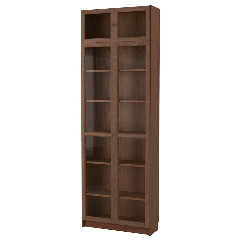 """<p>Billy/Oxgberg with height extension in Brown Ash, $245, <a href=""""https://www.ikea.com/ca/en/catalog/products/S79217761/"""" target=""""_blank"""" rel=""""noopener"""">Ikea</a>.</p>"""