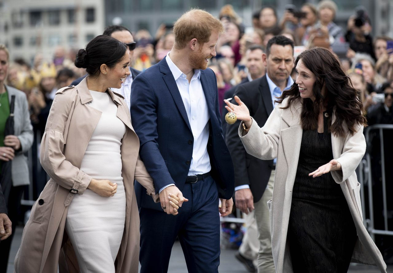 What Does Meghan Markle Do All Day-The Duke And Duchess Of Sussex Visit New Zealand and walk side by side with New Zealand Prime Minister