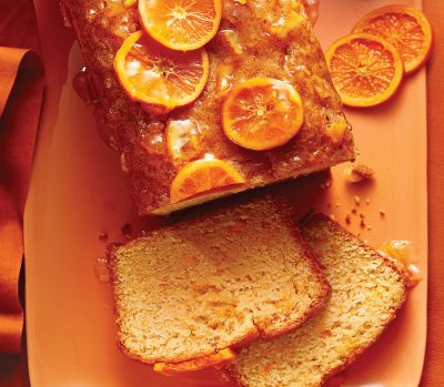 Orange-drizzled sweet potato cake