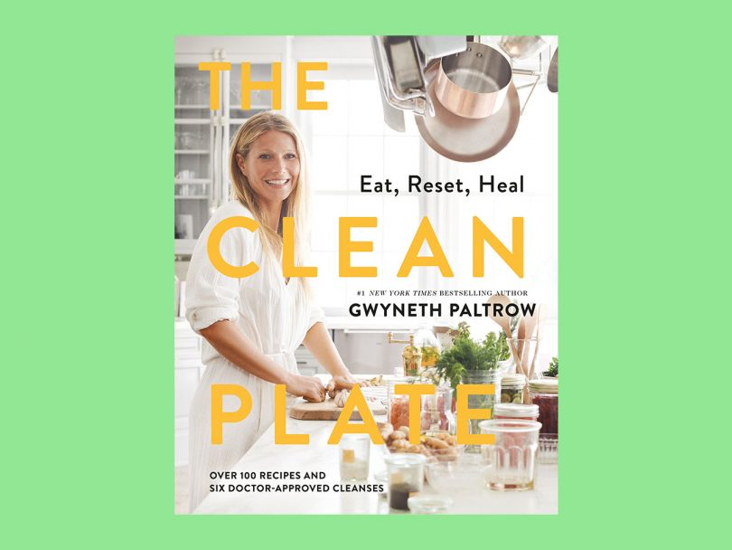 Gwyneth Paltrow cookbook The Clean Plate on a green background