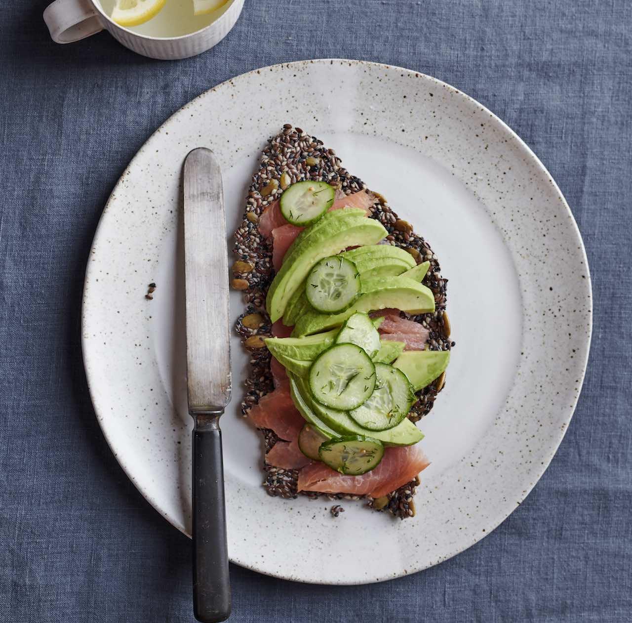 Salmon avocado cracker Gwyneth Paltrow goop recipe