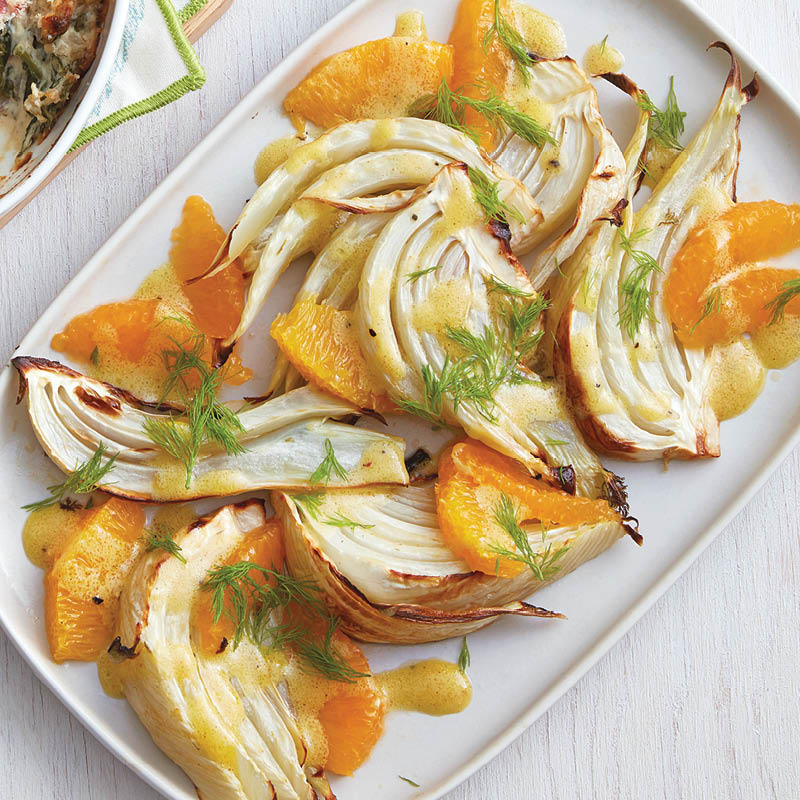 Roasted fennel with orange dressing