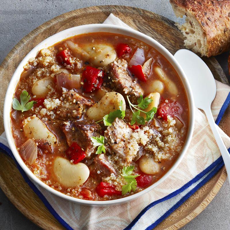 Spanish pork & beans