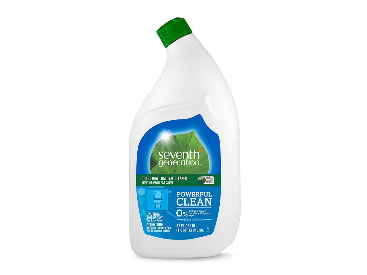 Eco-friendly cleaning products, Seventh Generation toilet bowl cleaner bottle