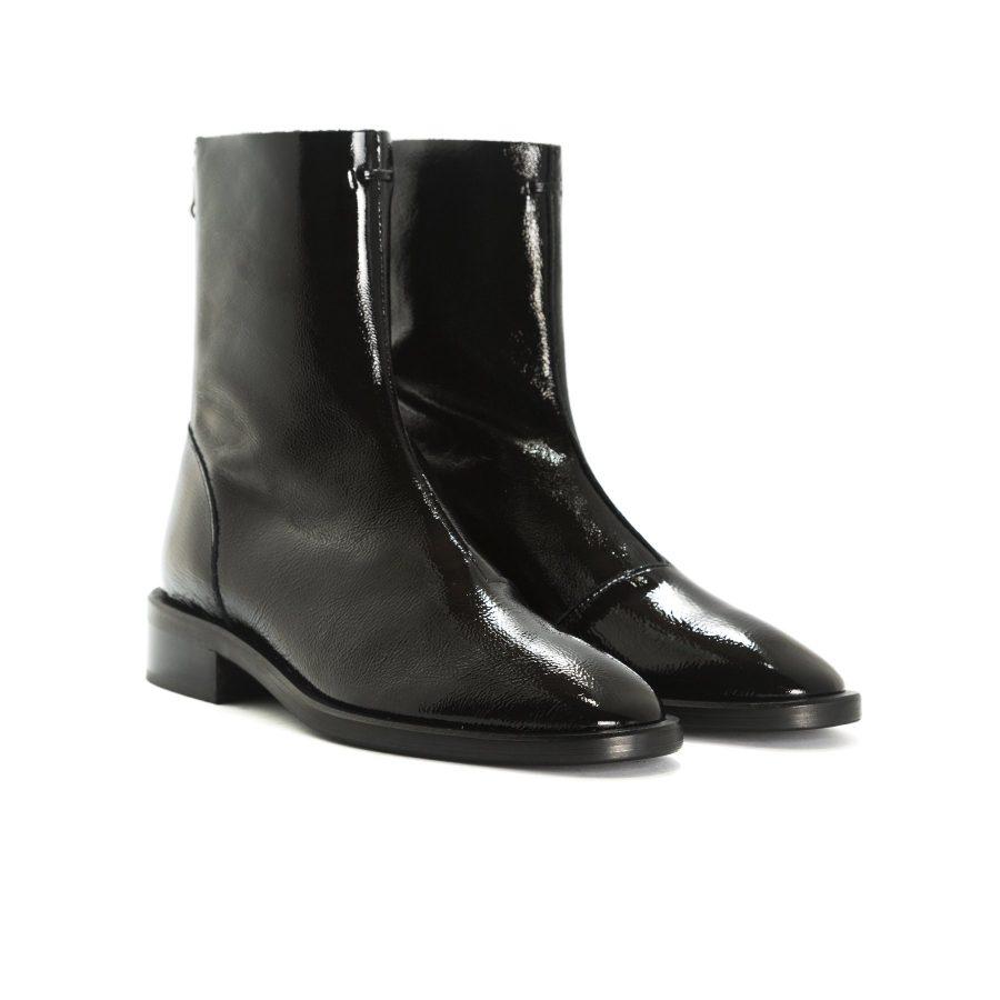 L'Intervalle Dalton Black Naplack Ankle Boots