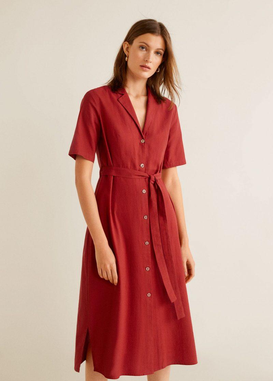 Mango Cotton Shirt Dress