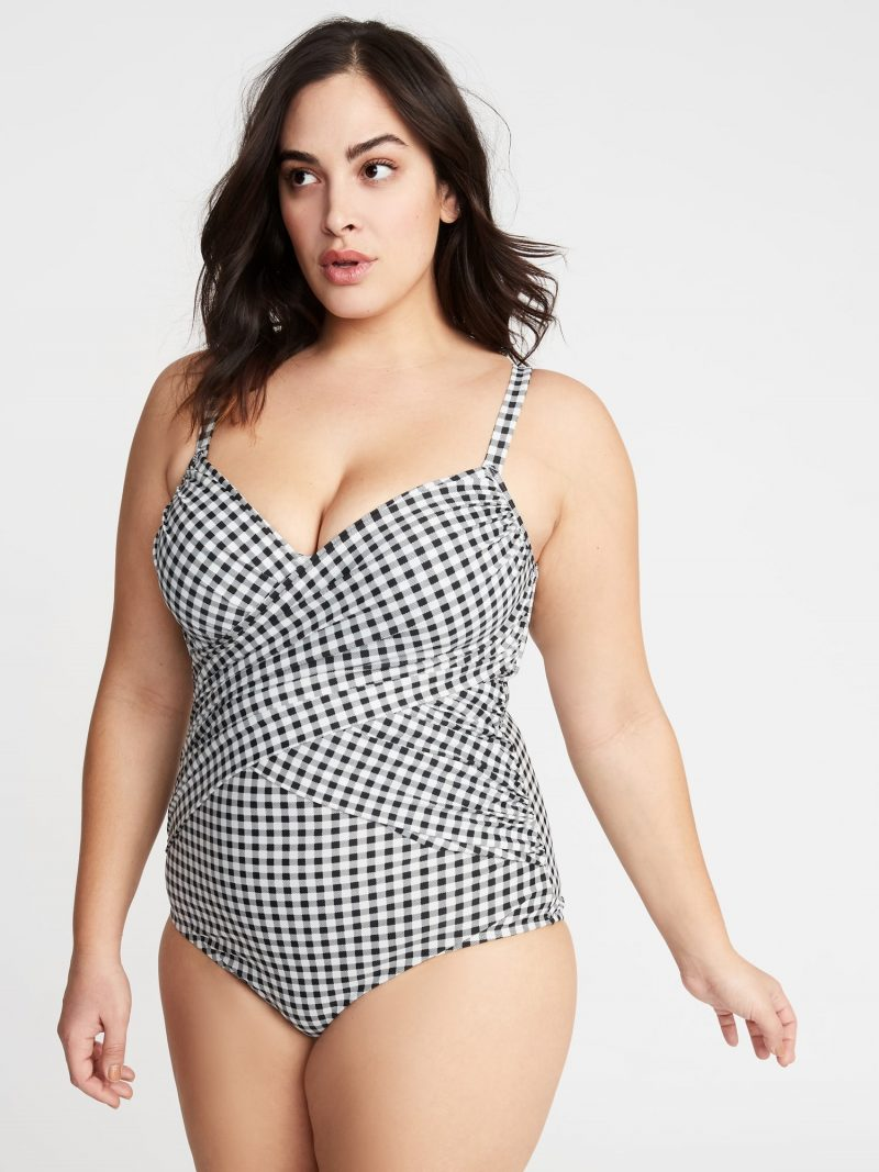 Old Navy Wrap-Front Secret-Slim Plus-Size Swimsuit