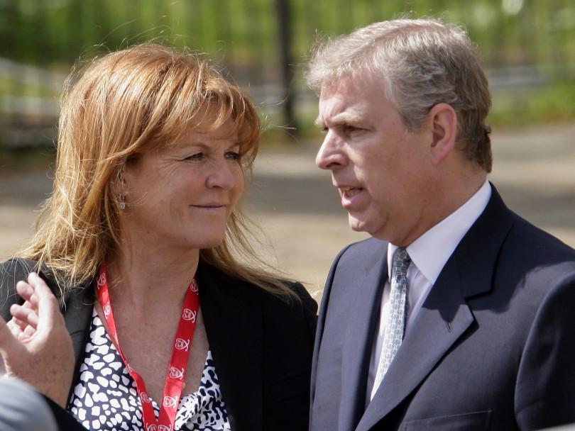 """Sarah Ferguson (known as """"Fergie"""") and Prince Andrew. There's a rumour their relationship is back on"""