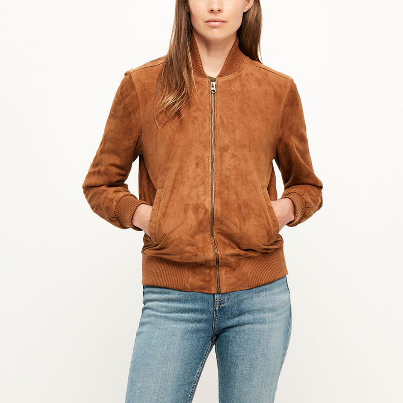Tan suede commander jacket from roots