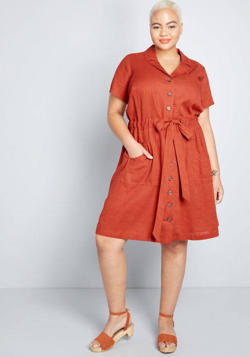 Modcloth Enthralled Again Shirt Dress
