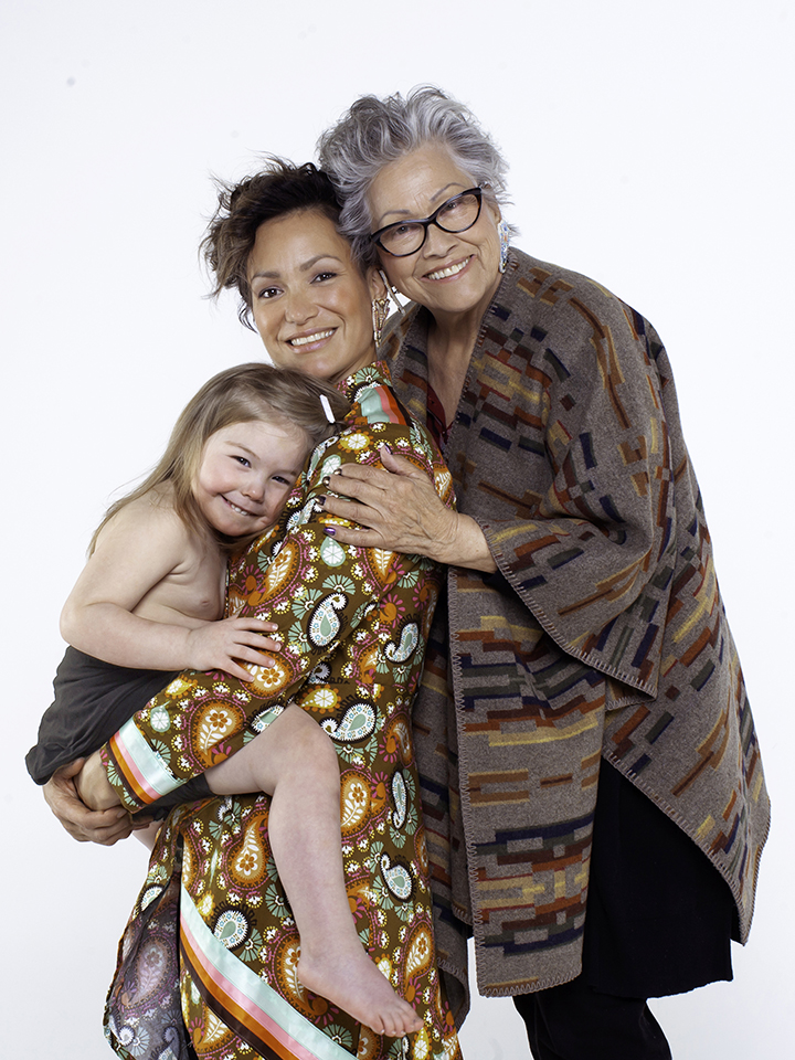 Waneek Horn-Miller with mother and daughter