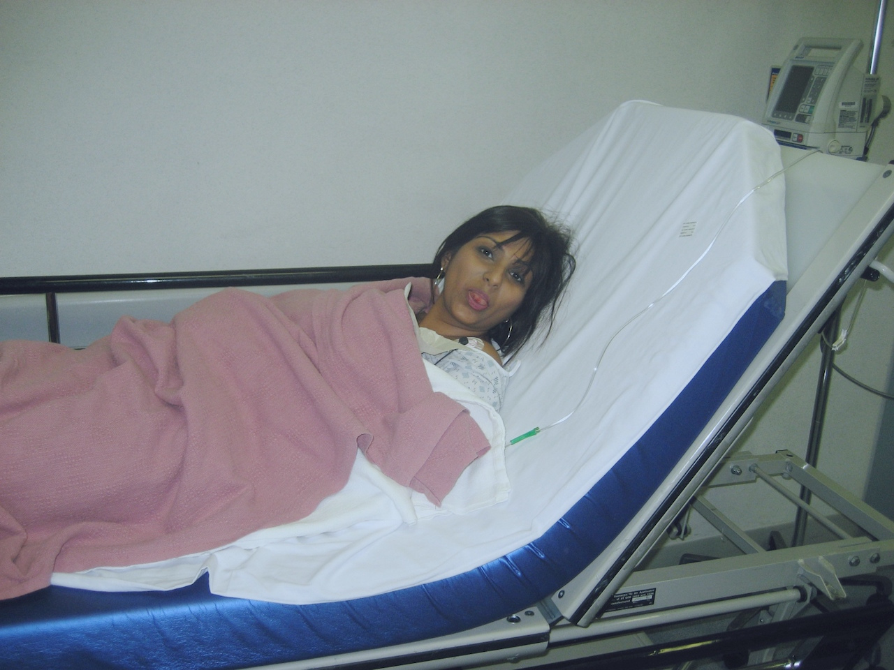 Epilepsy essay-Meera Solanki Estrada the writer lies in a hospital bed showing her inured tongue