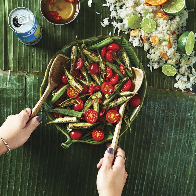 Okra & Tomato Salad (Ensaladang Okra at Kamatis)