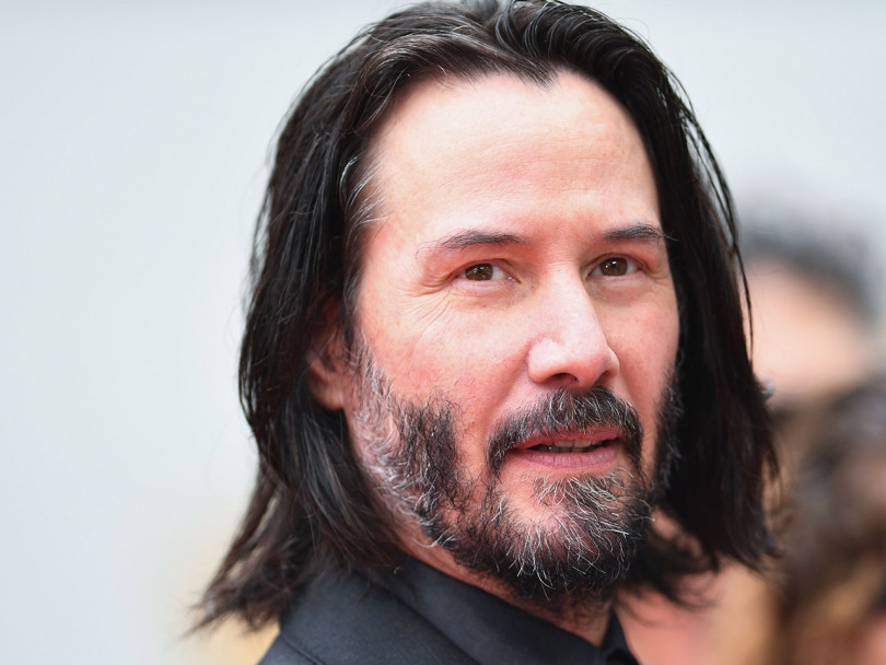 Keanu Reeves crush: close up of actor Keanu Reeve's face