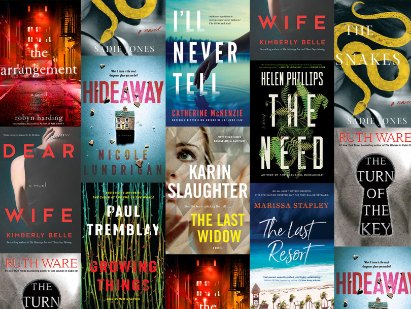 Collage of the new thrillers books summer 2019