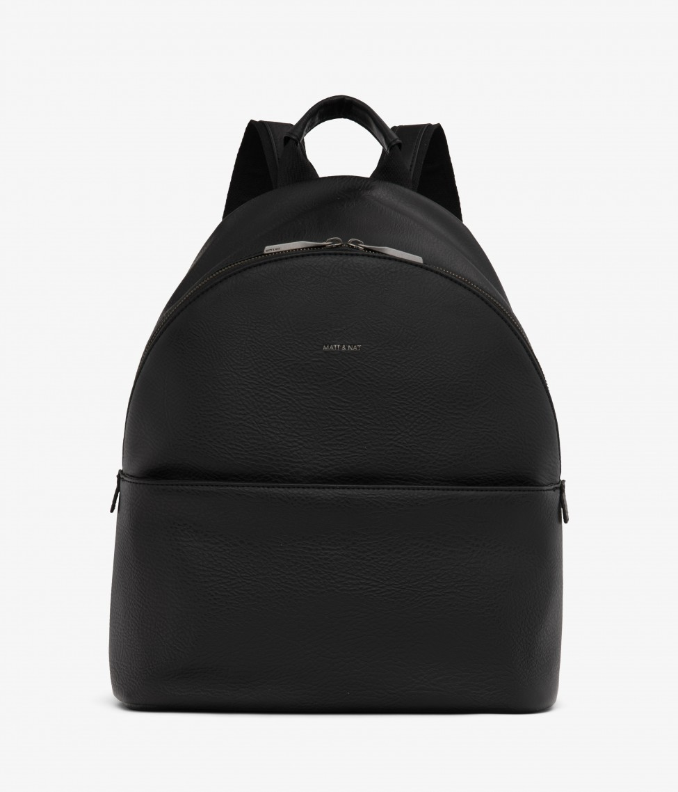 Black Matt and Nat backpack on a white background.