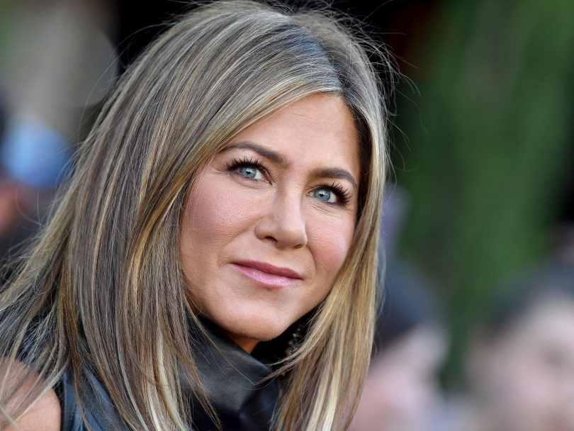 Headshot of Jennifer Aniston at Murder Mystery LA premiere
