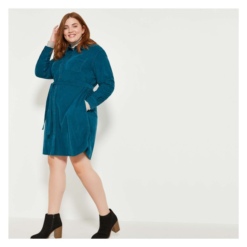 Joe Fresh Women+ Corduroy Shirt Dress