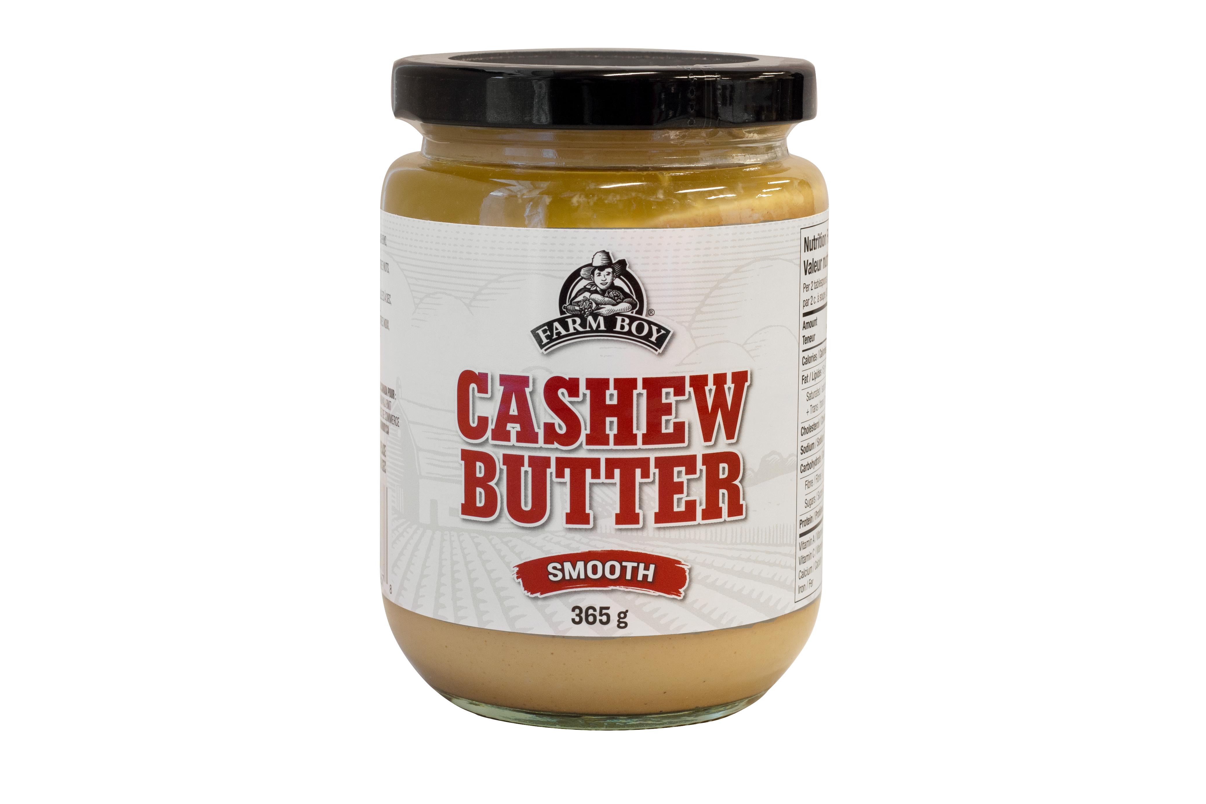 Farm Boy Cashew Butter in its jar.