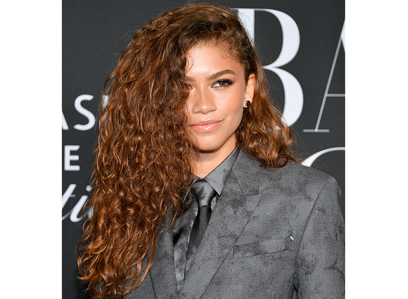 celebrity Zendaya has long type 3 curl pattern hair